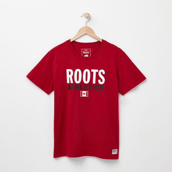Roots-Women New Arrivals-Womens Roots Re-issue T-shirt-Scooter Red-A