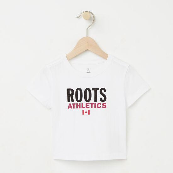 Roots-Kids T-shirts-Baby Roots Re-issue T-shirt-White-A