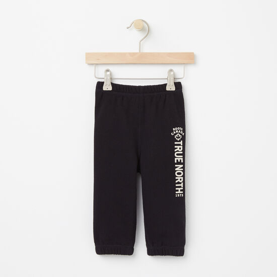 Roots-Kids Bottoms-Baby True North Original Sweatpant-Black-A