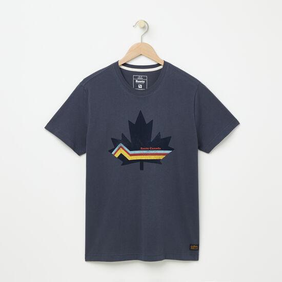 Roots-Men Tops-Morell Organic T-shirt-Ombre Blue-A