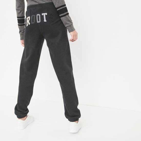 Roots-Women Original Sweatpants-Roots Holiday Sweatpant-Black Mix-A