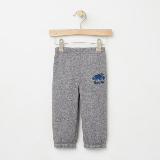 Roots-Kids Bottoms-Baby Original Sweatpant-Granite Mix-A