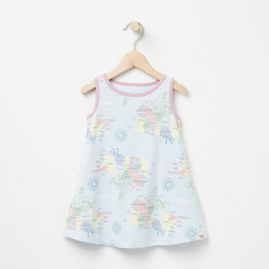 Roots-Kids Baby-Baby Coastal Tank Dress-Clean Air-A