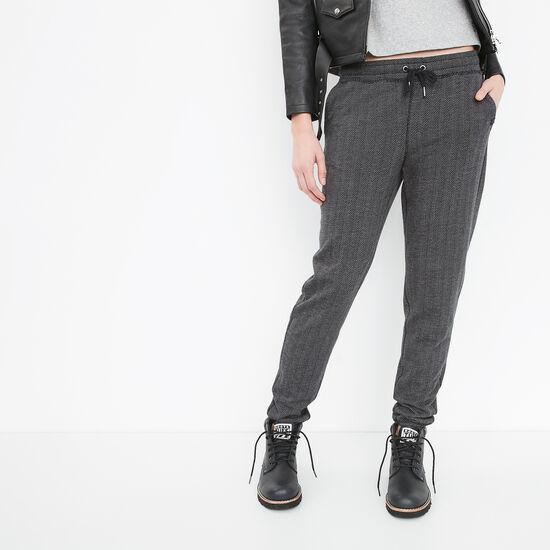 Roots-Women Slim Sweatpants-Sprucedale Sweatpant-Black-A