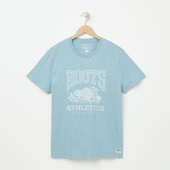 Roots-Hommes Tshirts Et Débardeurs-T-shirt Rba-Mlng Pierre Bleue-A