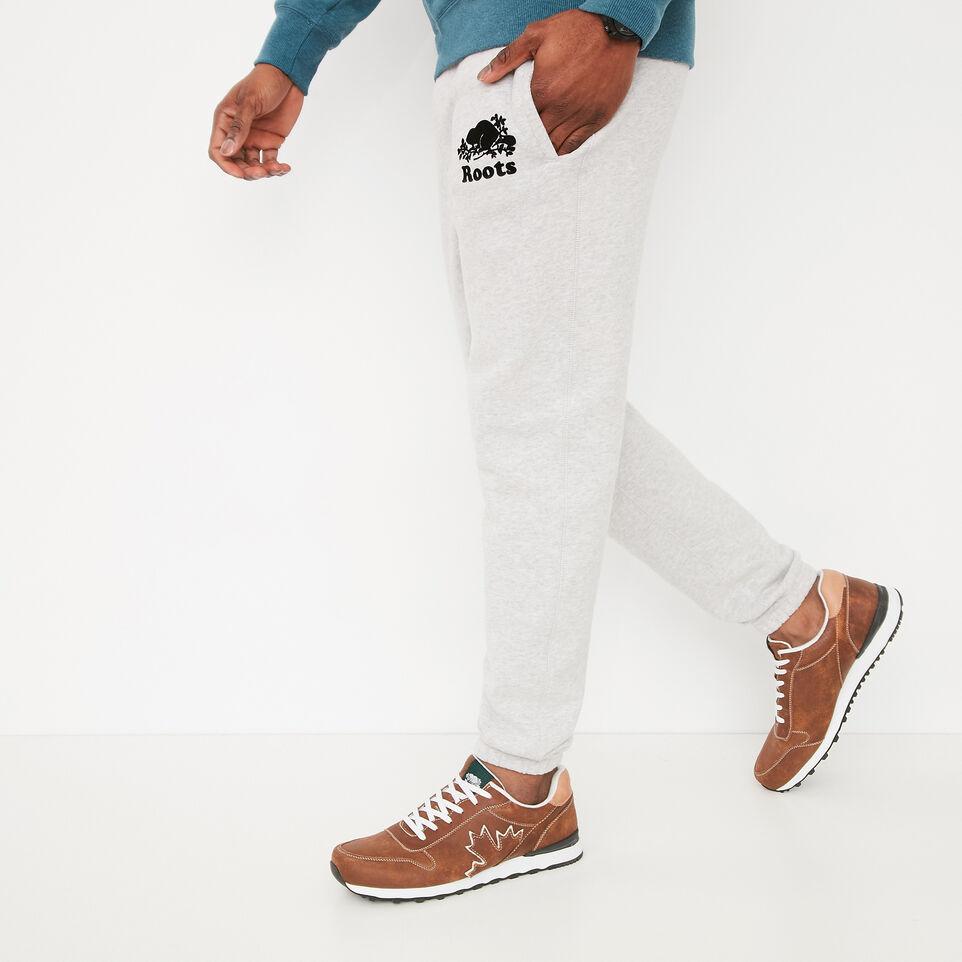 Roots-undefined-Pantalon Ajusté Coton Ouaté-undefined-B