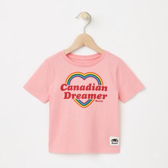 Roots-Enfants Nouveautés-Tout-Petits T-shirt Cœur Canadien-Rose Pivoine-A