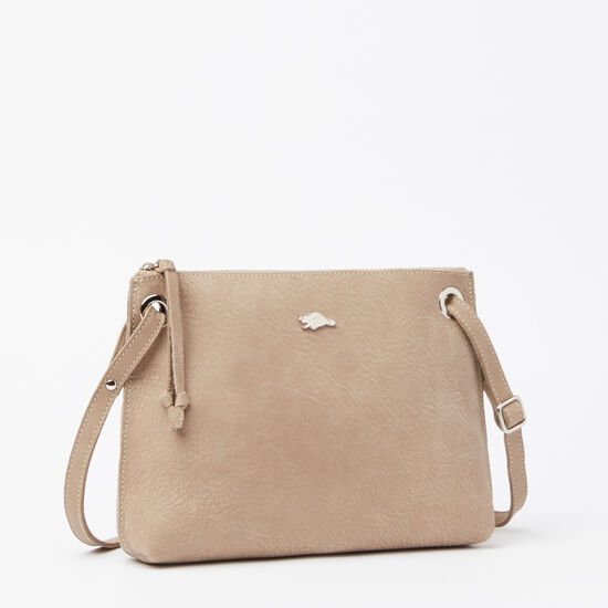 Roots-Leather Handbags-Edie Bag Tribe-Sand-A