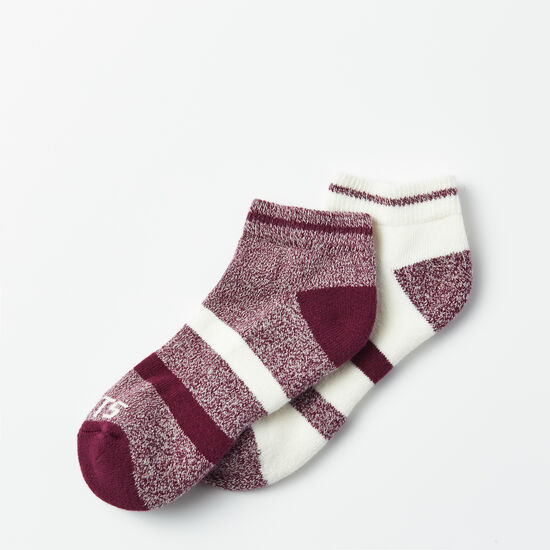 Roots-Women Socks-Christy Sport Ped Sock 2 Pack-Pickled Beet-A