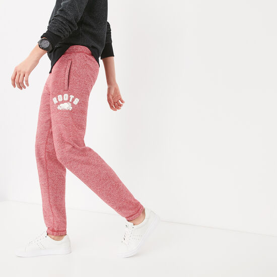 Roots-Women Slim Sweatpants-Chenille Slim Sweatpant-Lodge Red Pepper-A