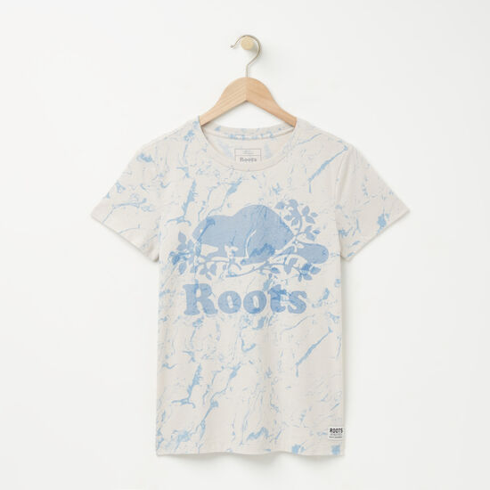 Roots-Women Graphic T-shirts-Cooper Marble T-shirt-Wind Chime Marble-A