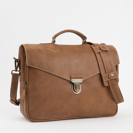Roots-Leather Bestsellers-Bay St. Briefcase Tribe-Africa-A