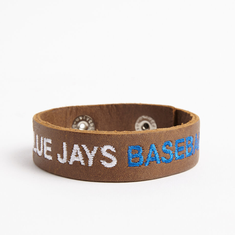 Roots-undefined-Blue Jays Leather Bracelet Tribe-undefined-B