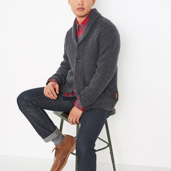 Roots-Men Sweaters & Cardigans-Revelstoke Tweed Cardigan-Fisherman Mix-A