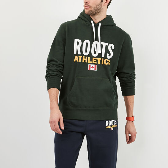 Roots-Men New Arrivals-Roots Re-issue Classic Kanga Hoody-Park Green-A