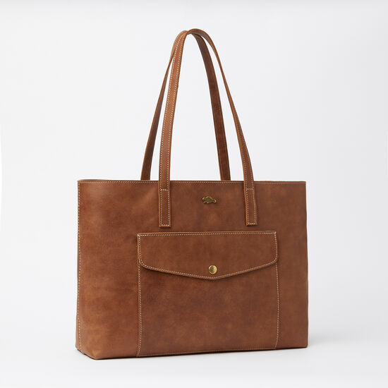 Roots-Leather Totes-Uptown Tote Tribe-Africa-A