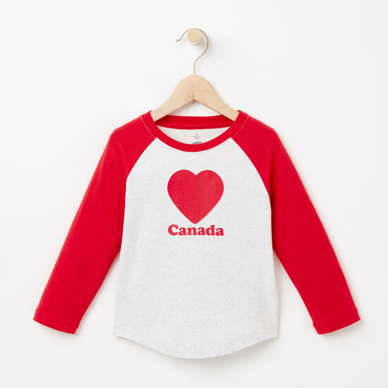 Roots-Kids Toddler Girls-Toddler Love Roots Canada Raglan T-shirt-Snowy Ice Mix-A