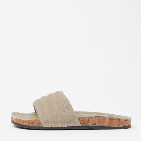 Roots-Shoes Women's Shoes-Womens Roots Slide Suede-Sand-A
