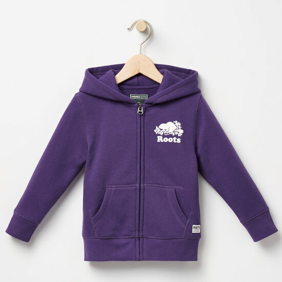 Roots-Kids Toddler Girls-Toddler Original Full Zip Hoody-Mulberry Purple-A