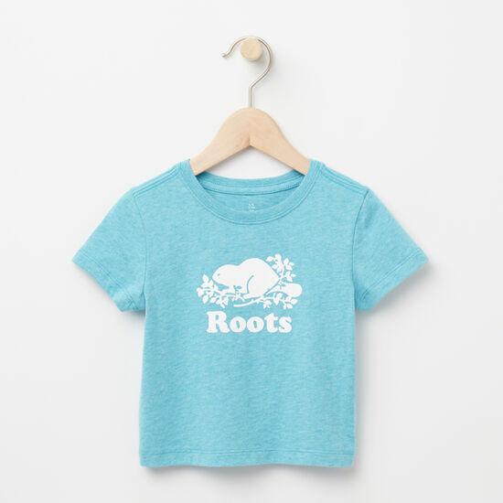 Roots-Kids Baby Girl-Baby Cooper Beaver T-shirt-Bluebird Mix-A