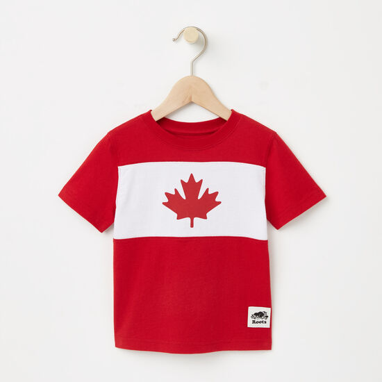 Roots-Kids Toddler Boys-Toddler Blazon Maple T-shirt-Sage Red-A
