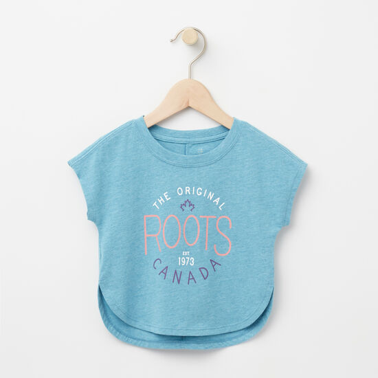 Roots-Kids Baby Girl-Baby Juniper Top-Ocean Depths-A