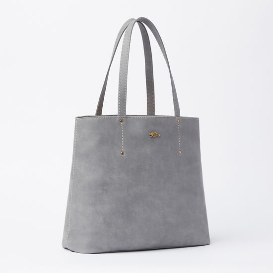 Roots-Leather Tribe Leather Collection-Downtown Tote Tribe-Quartz-A
