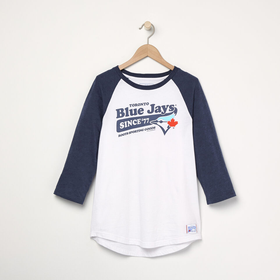 Roots-undefined-T-shirt de baseball Blue JaysMC Ballpark pour femmes-undefined-A