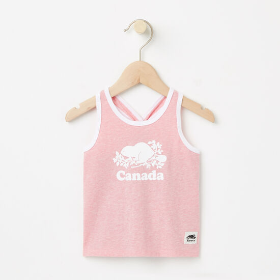Roots-Kids Baby-Baby Cooper Canada Tank-Peony Pink Mix-A