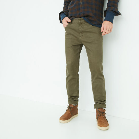 Roots-Men Bottoms-Albany 5 Pocket Pant-Rosin-A