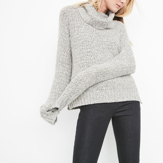 Roots-Women Sweaters & Cardigans-Hartington Sweater-Med Grey Mix-A