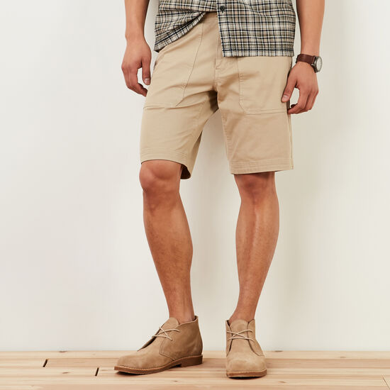 Roots-Men Shorts-New Hiker's Shorts-True Khaki-A