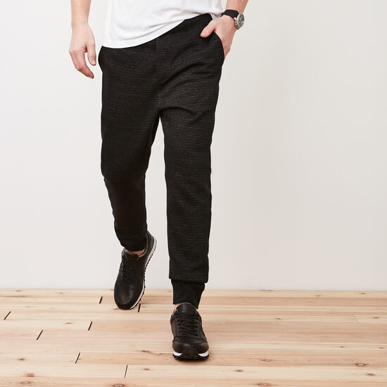Roots-Men Bottoms-Ridgetown Sweatpants-Black Speckle-A