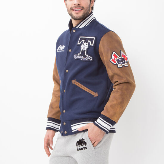 Roots-Men Award Jackets-NHL Award Jacket Toronto-Navy-A