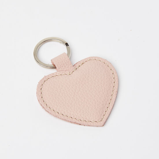 Roots-Leather Leather Accessories-Heart Key Ring Prince-Light Pink-A