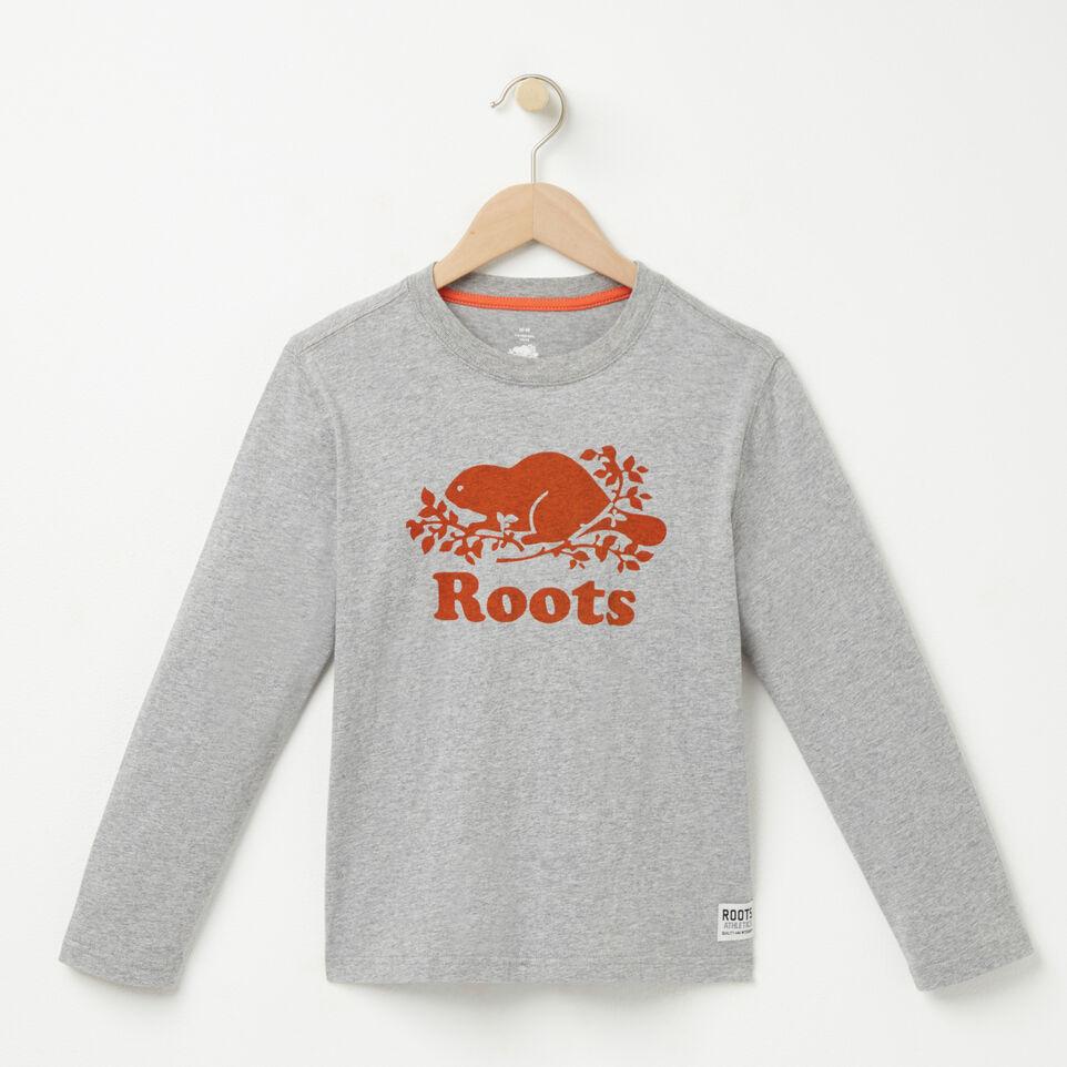 Roots-undefined-Garçons T-shirt Man Lng Cooper Beaver-undefined-A