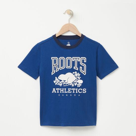 Roots-Kids T-shirts-Boys RBA T-shirt-Anchor Lake Blue-A
