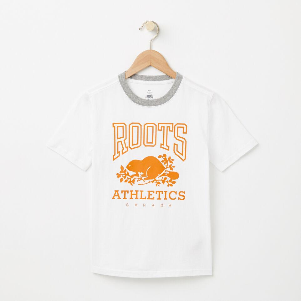 Roots-undefined-Garçons T-shirt RBA Phosphorescent-undefined-A