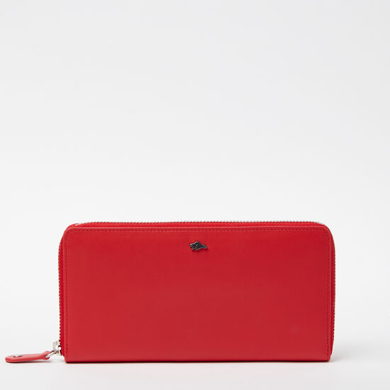 Roots-Women Wallets-Zip Around Wallet Bolzano-Scarlet-A