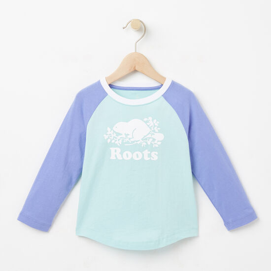 Roots-Kids Toddler Girls-Toddler Love Roots Canada Raglan T-shirt-Pastel Turquoise-A