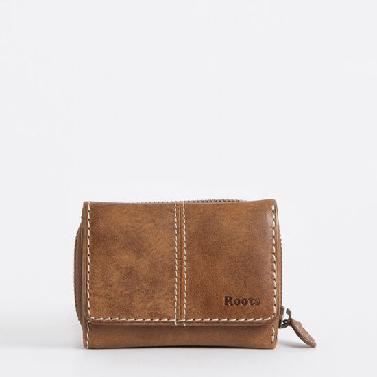 Roots-Leather Women's Wallets-Small Trifold Clutch Tribe-Africa-A