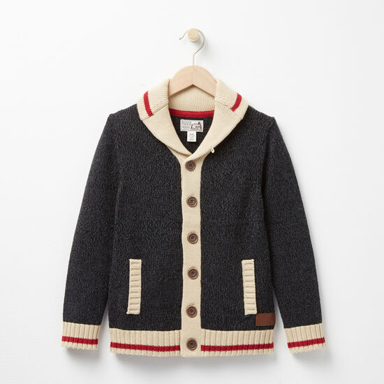 Boys Roots Cabin Shawl Cardigan