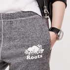 Roots-undefined-Pantalon en coton ouaté original sel et poivre Roots Long-undefined-C