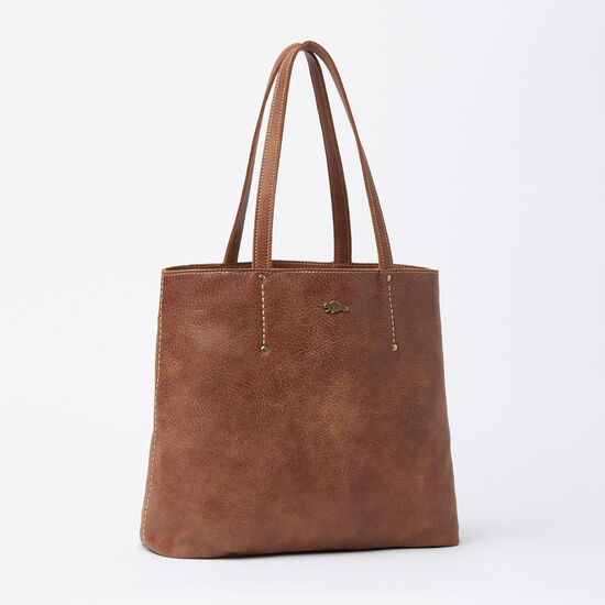 Roots-Leather Tribe Leather Collection-Downtown Tote Tribe-Africa-A