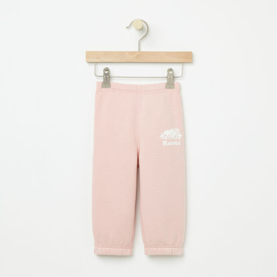 Roots-Kids Bottoms-Baby Original Sweatpant RTS-Silver Pink-A