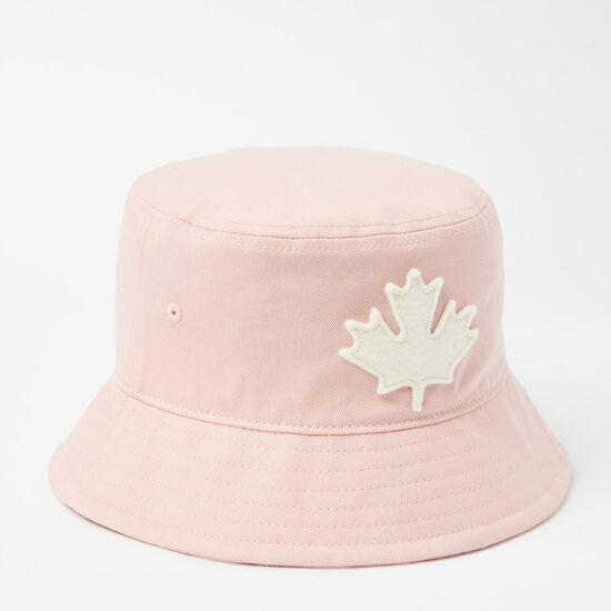 Roots-Kids Accessories-Toddler Canada Leaf Bucket Hat-Silver Pink-A
