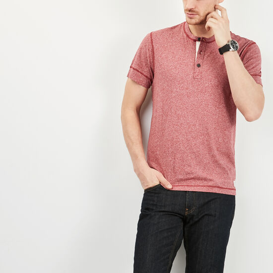 Roots-Men Tops-New Guelph Henley-Macintosh Pepper-A