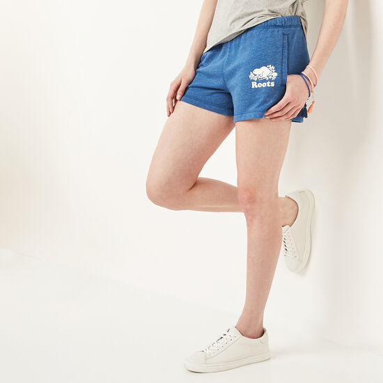 Roots-Women Bottoms-Original Sweatshort-Anchor Lake Blue Mix-A