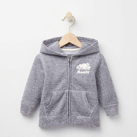 Roots - Baby Roots Salt and Pepper Original Full Zip Hoody