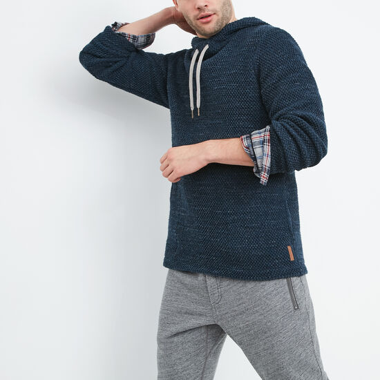 Roots-Men Best Sellers-Bonshaw Pullover Hoody-Navy Mix-A